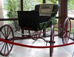 The carriage responsible for the beginning of Selective Insurance sits in the company's headquarters