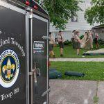 Branchville, NJ: Scouting van