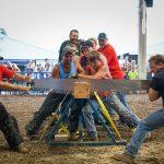 Branchville,NJ: State Fair Saw Men  by Joe Guerriero